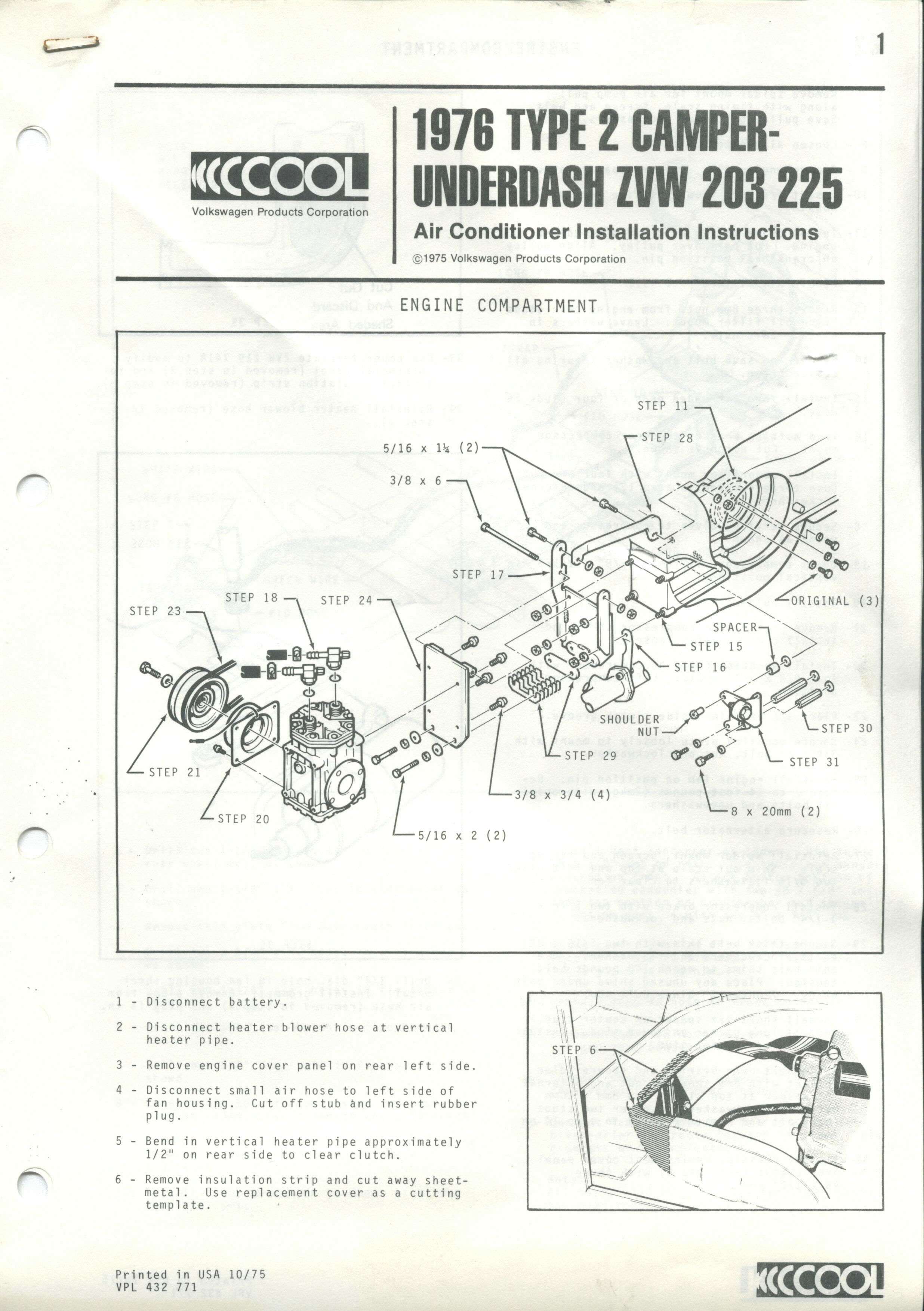 Westfalias Various Parts Pictures Bj74 Wiring Diagram