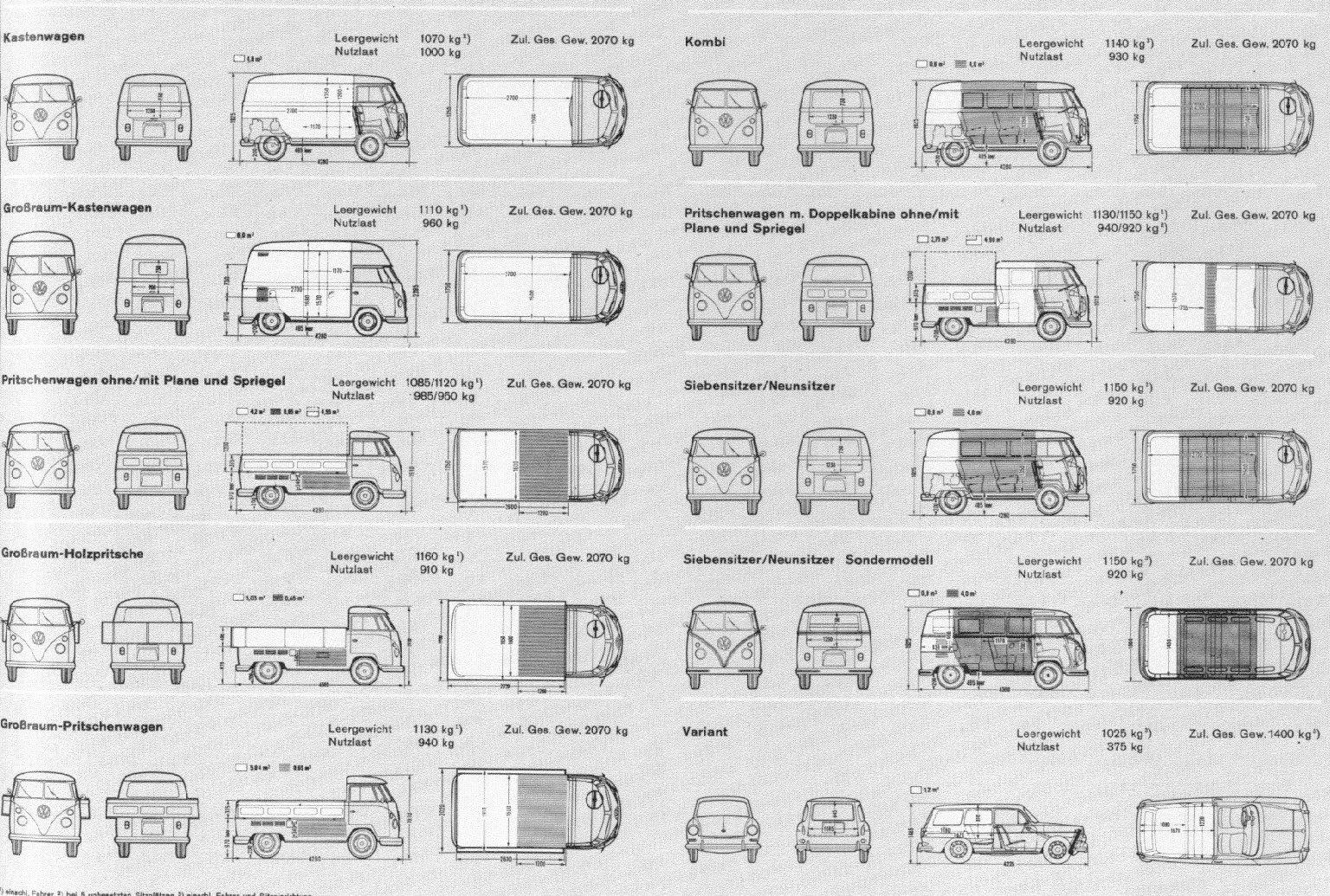 Barndoor Pickup And Panel 256k Bus Body Dimension Sheet