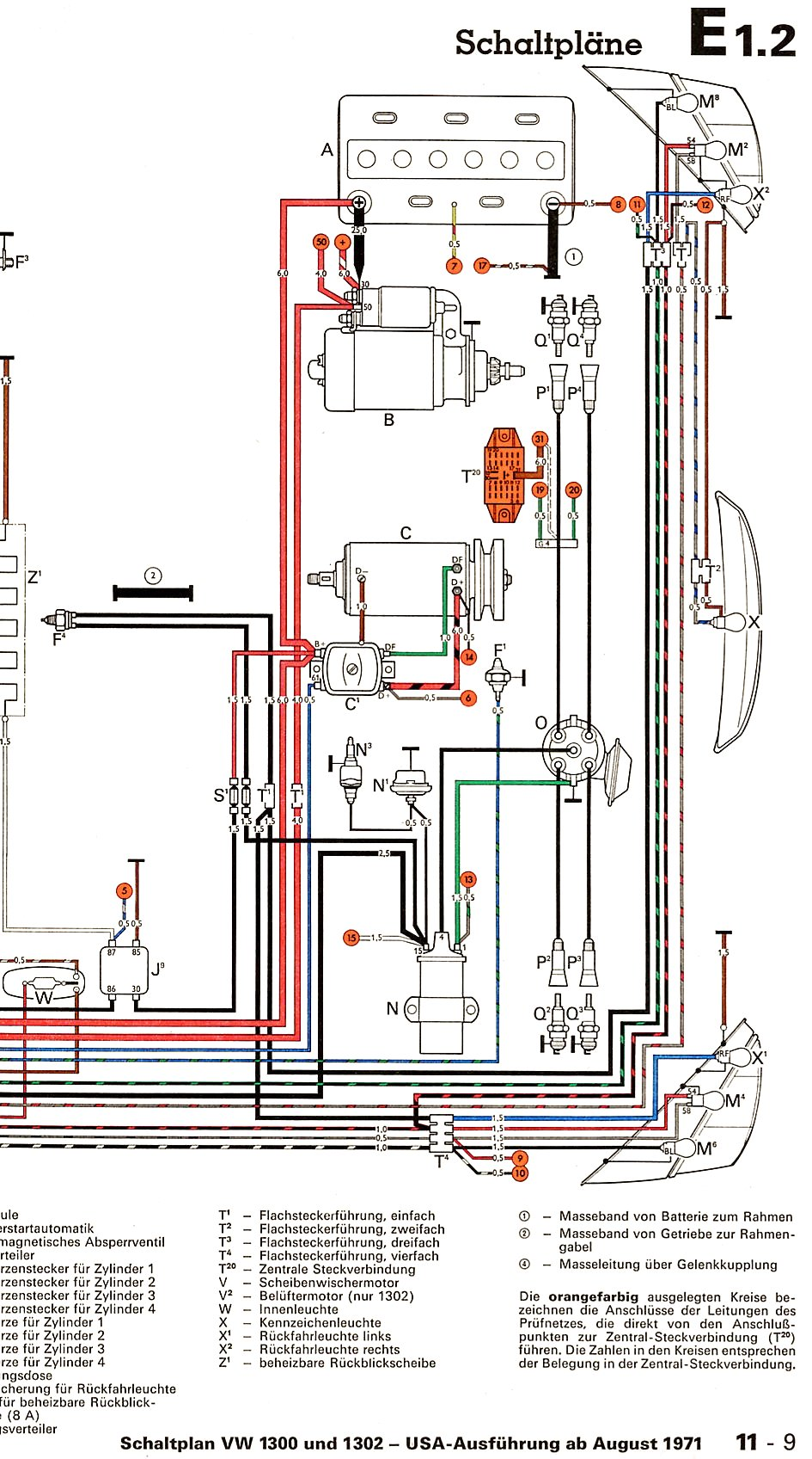1300_and_1302_USA_from_August_1971 2 wiring diagram shoptalkforums com 73 vw beetle wiring diagram at bakdesigns.co