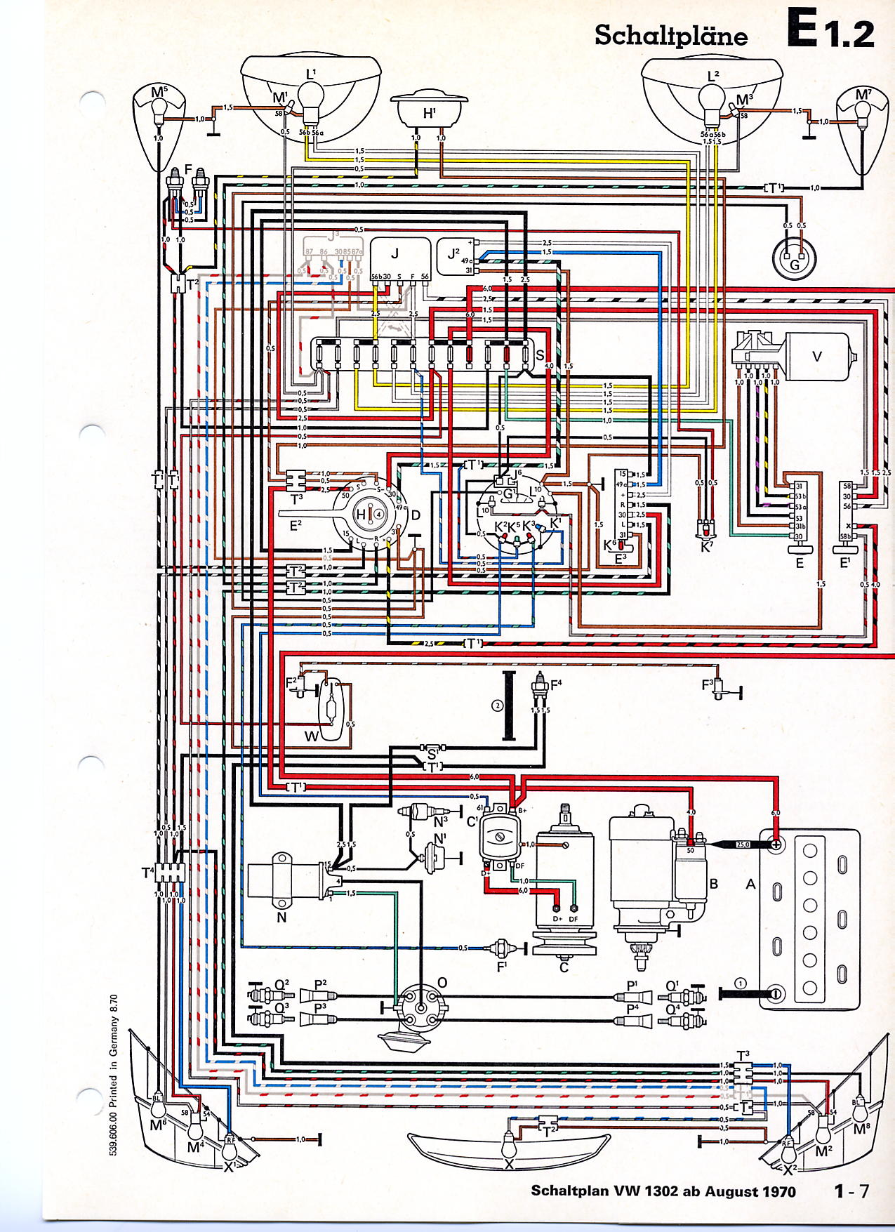 wiring diagram 1974 vw super beetle the wiring diagram thesamba beetle late model super 1968 up view topic · vw wiring diagram