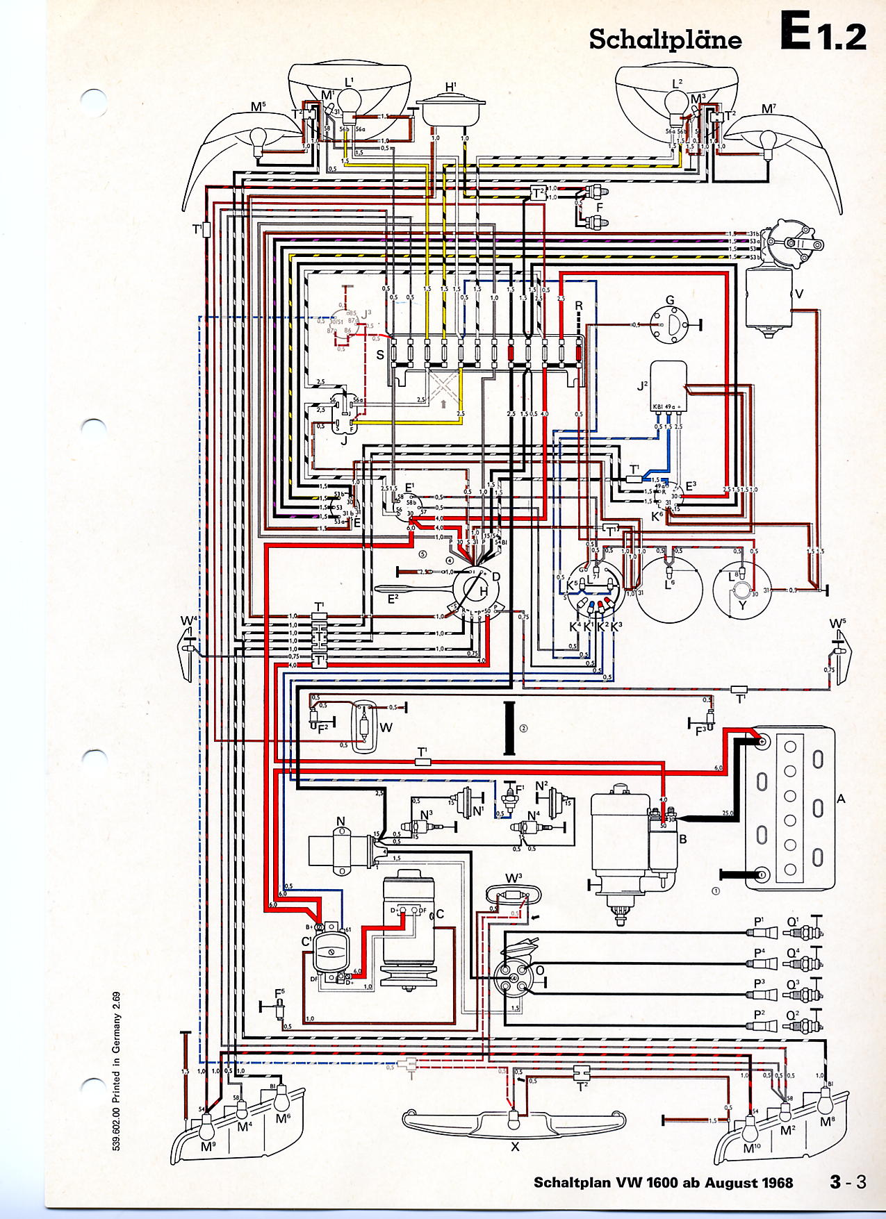 1600_from_august_1968 vwvortex com 70 type 3 wiring harness & 70 ghia harness the same??? 1968 vw type 3 wiring diagram at gsmx.co