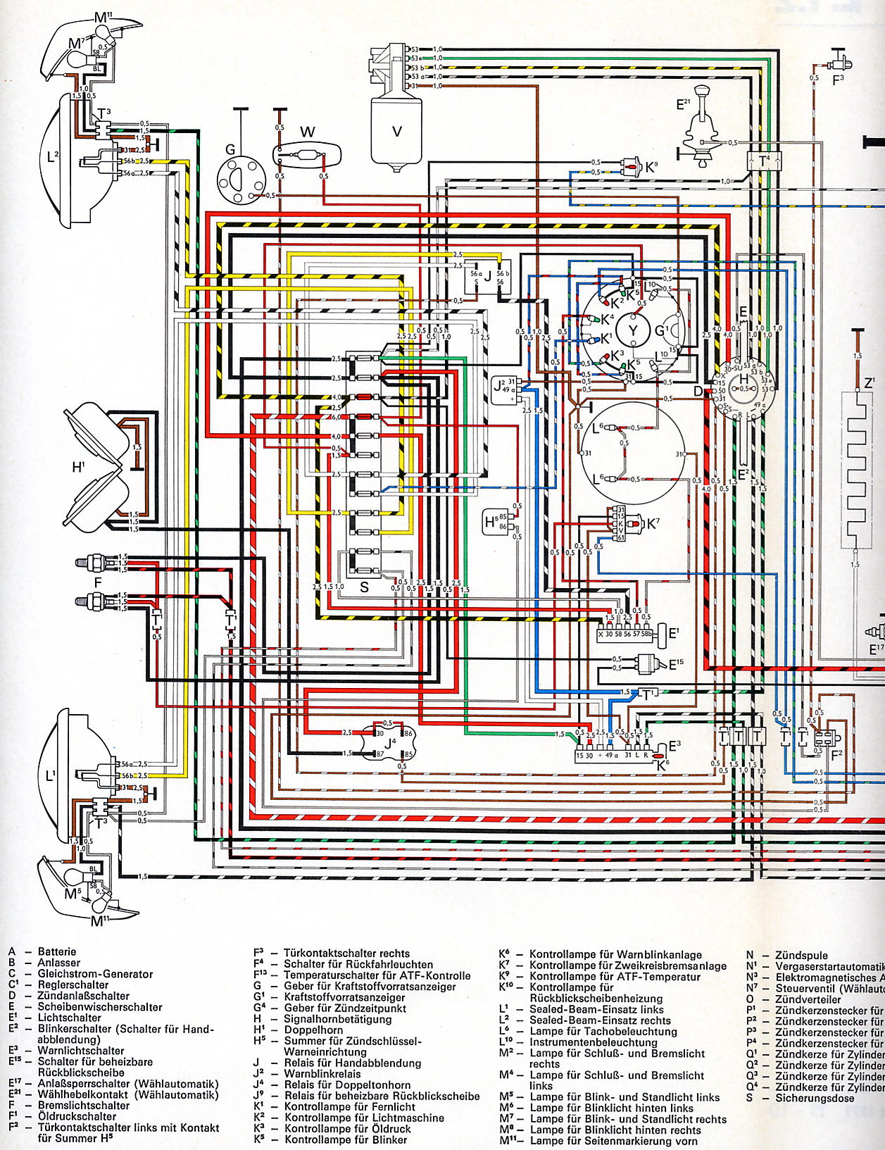 Vw Golf Mk1 Wiring Diagram Pdf 30 Images 97 Pat Tdi Fuse Box Karmann Ghia Usa From August 1971 1 Shoptalkforums Com At