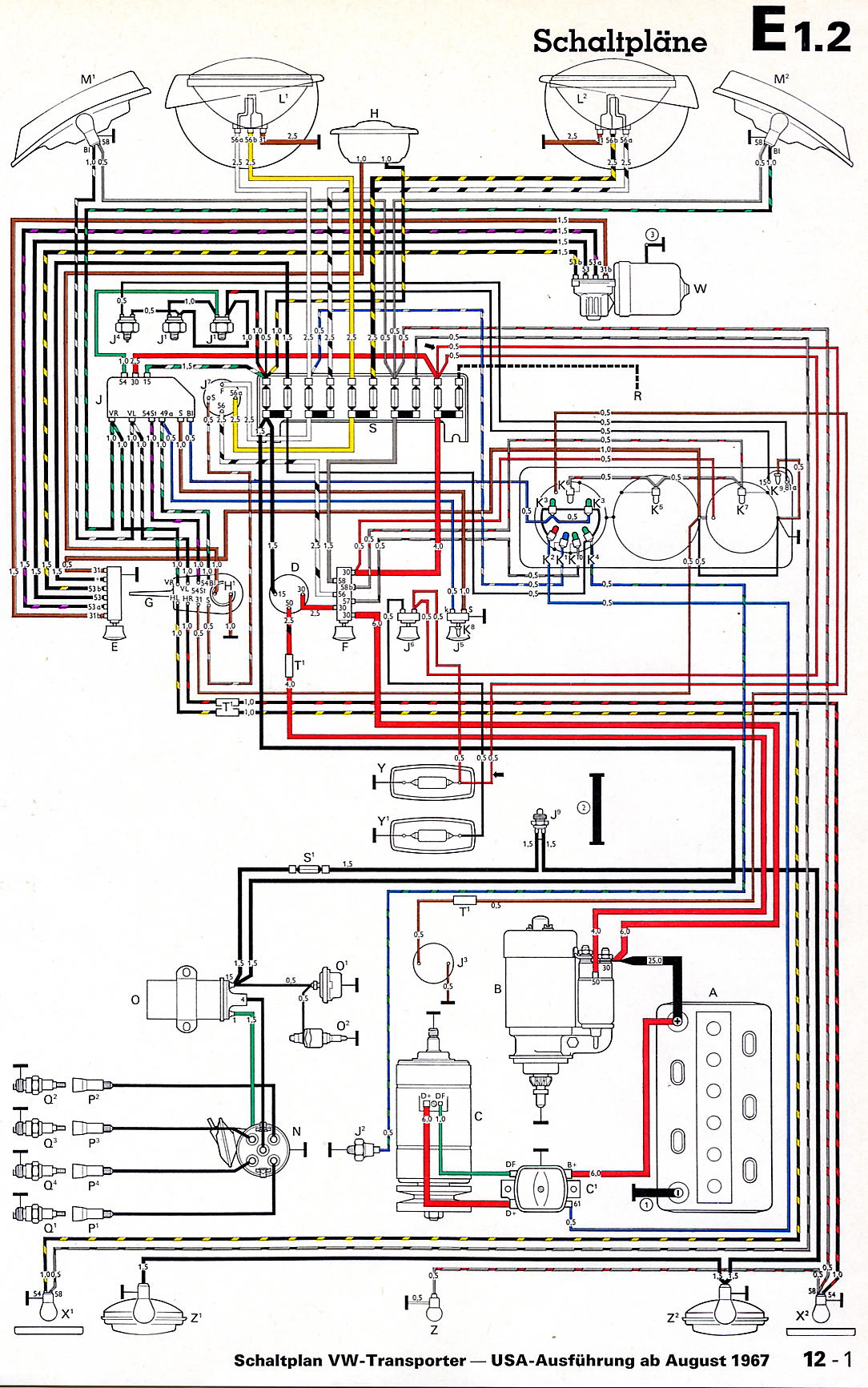 volkswagen van wiring diagram wiring diagram experts