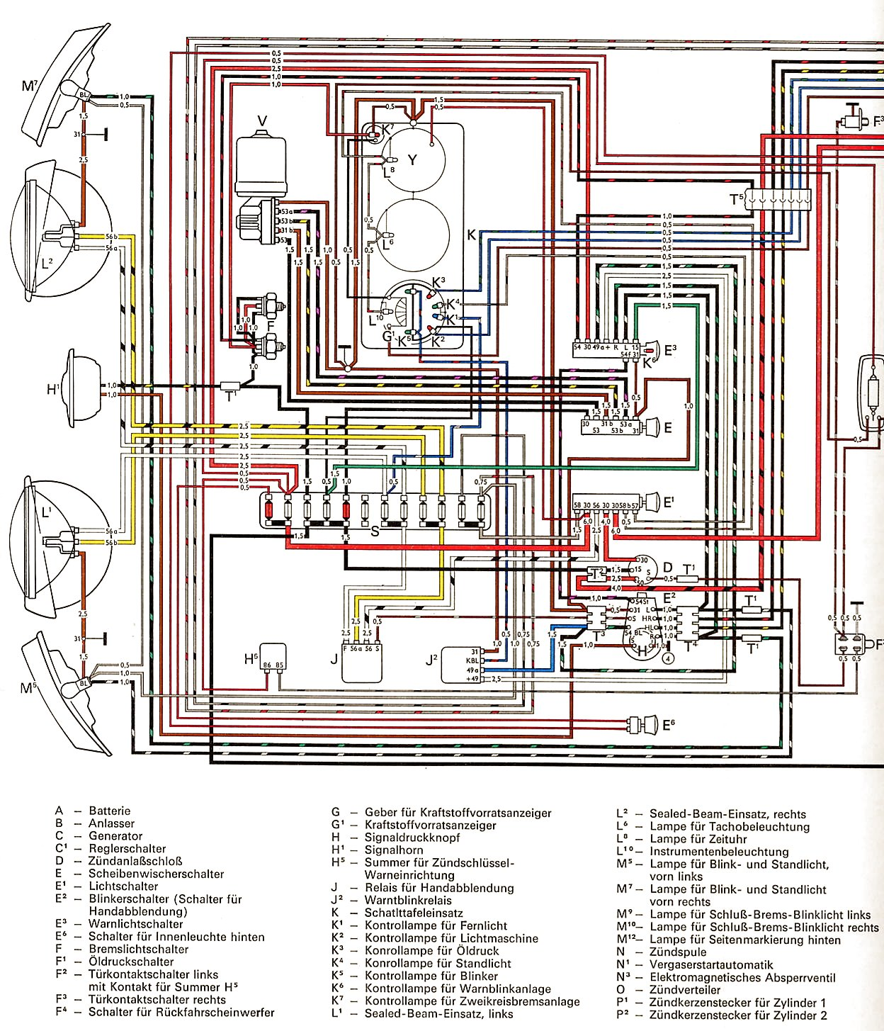 Mexican Vw Beetle Wiring Diagram Great Installation Of 1965 Thegoldenbugcom Vintagebus Com Bus And Other Diagrams Rh