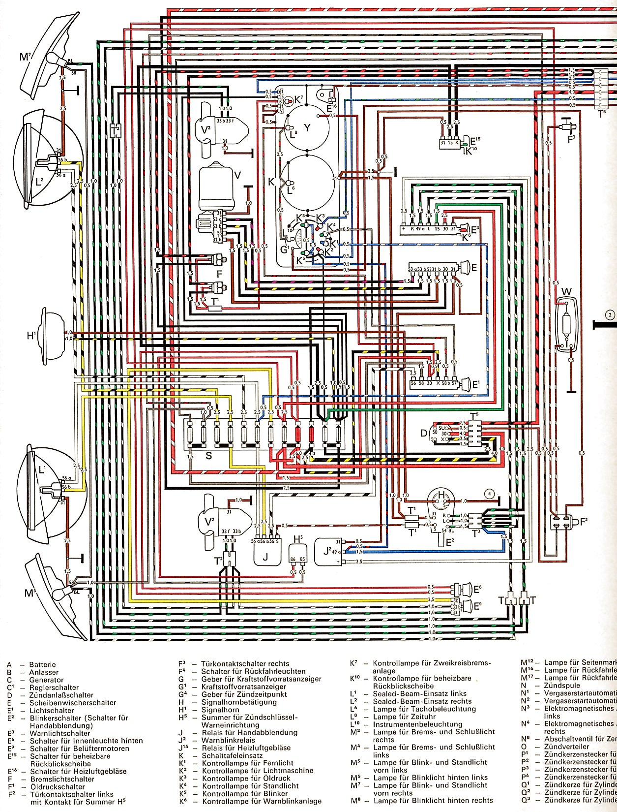 Vw Bus And Other Wiring Diagrams August 2013 Electronic Circuit Schematics 1972 Usa De Y 1 2
