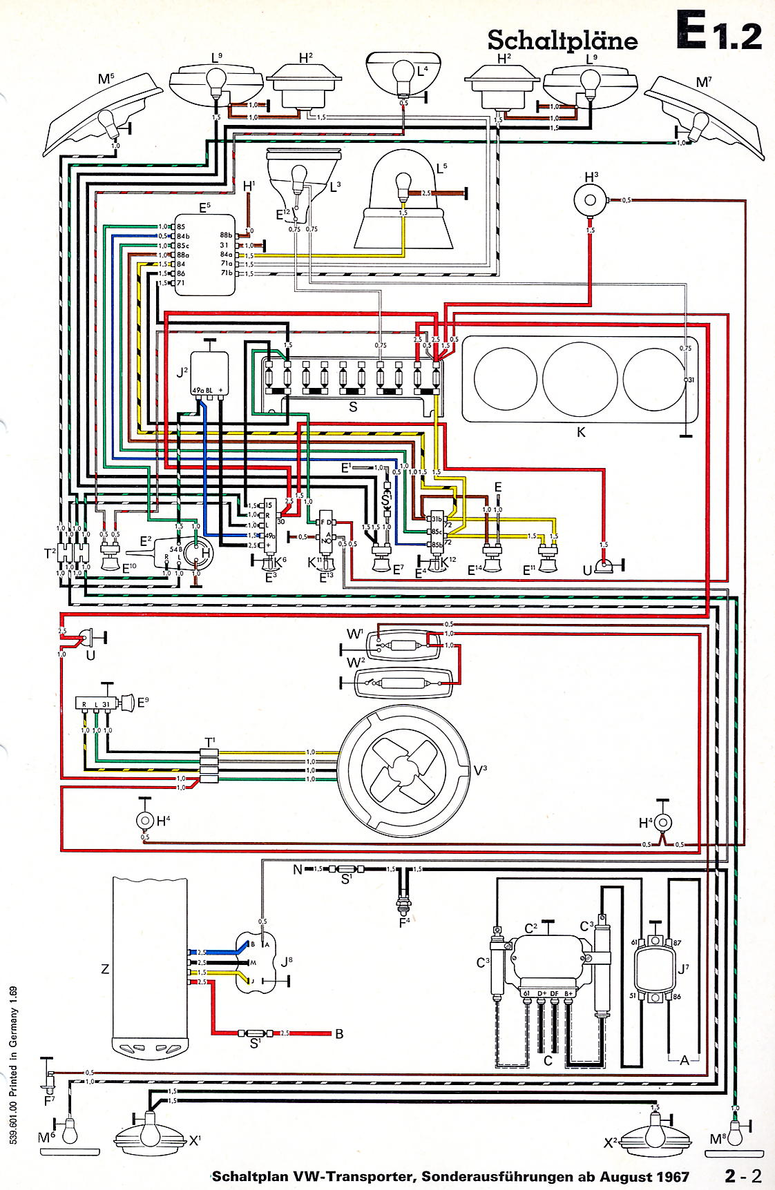 Vw Bus And Other Wiring Diagrams Old Trailer Light Diagram Two 2
