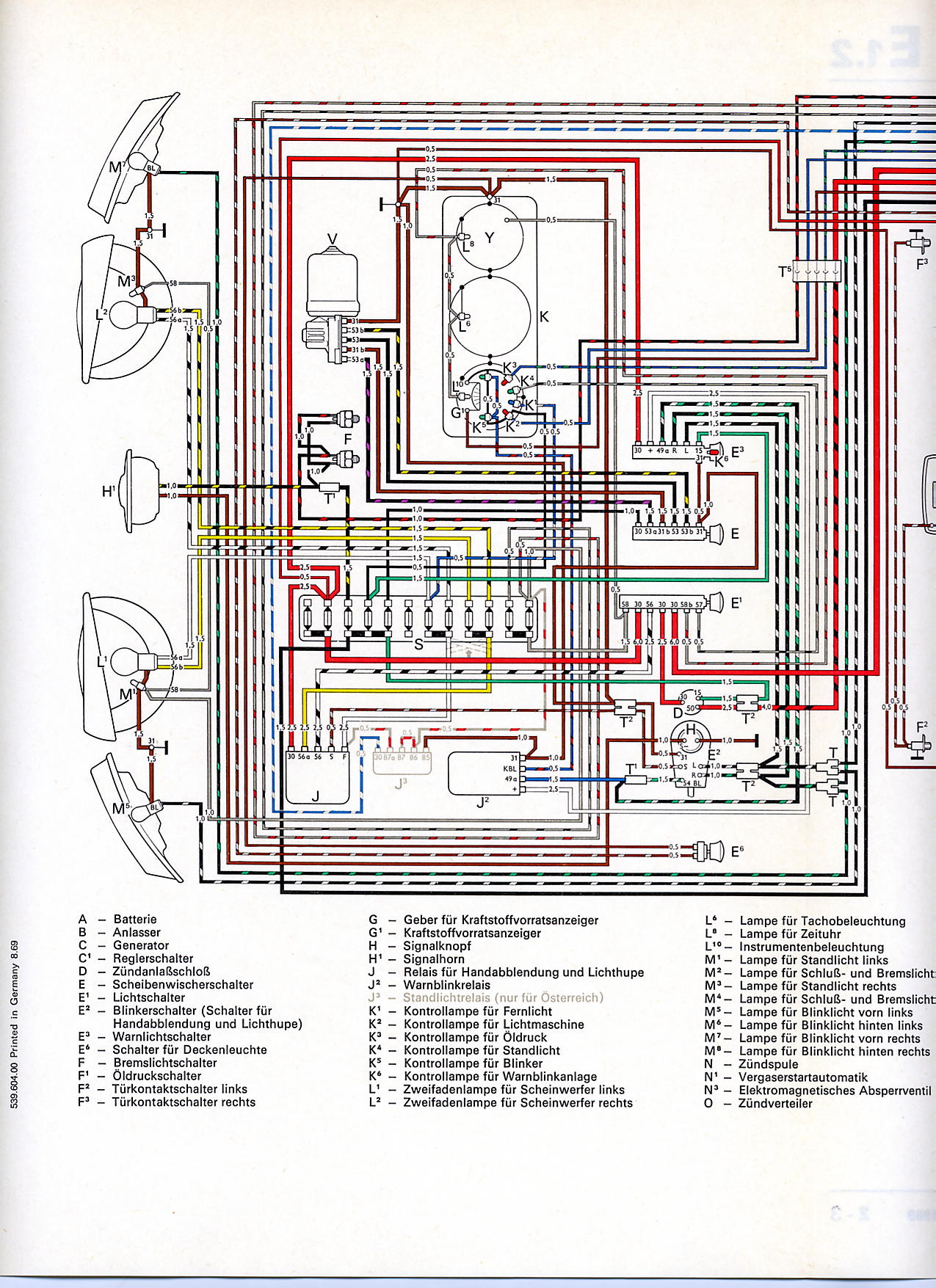 Vw Bus And Other Wiring Diagrams 2 Line Phone Systems Diagram De Y 1