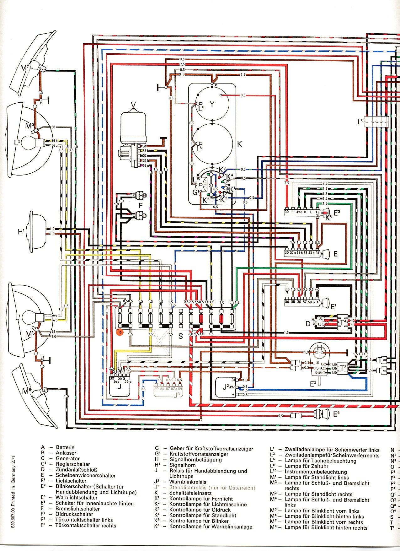 Vw Bus And Other Wiring Diagrams Two Wire Alternator Diagram 2001 Grand Vitara Com