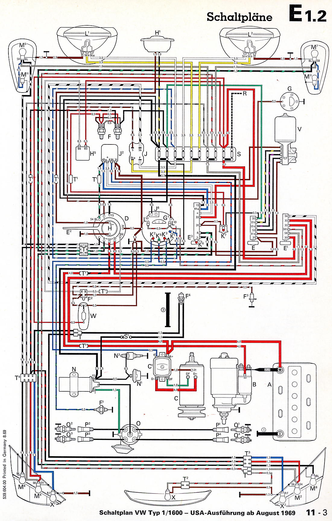 vwvortex com dead alternator or user error here s the original 1970 wiring diagram generator