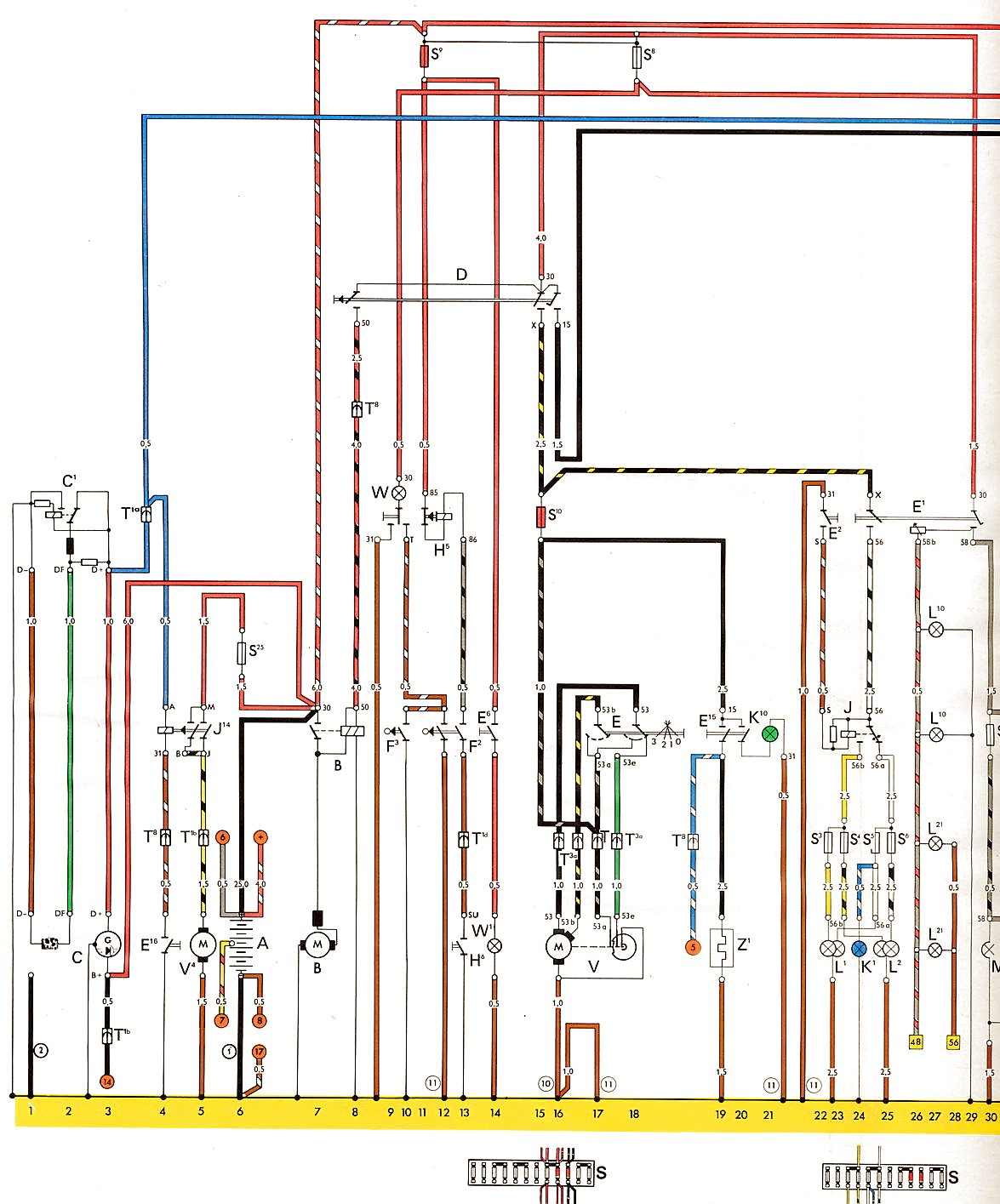 Type_2_USA_from_August_1973 1 vw thing wiring diagram 1974 beetle heater diagram \u2022 wiring Wiring Harness Diagram at crackthecode.co
