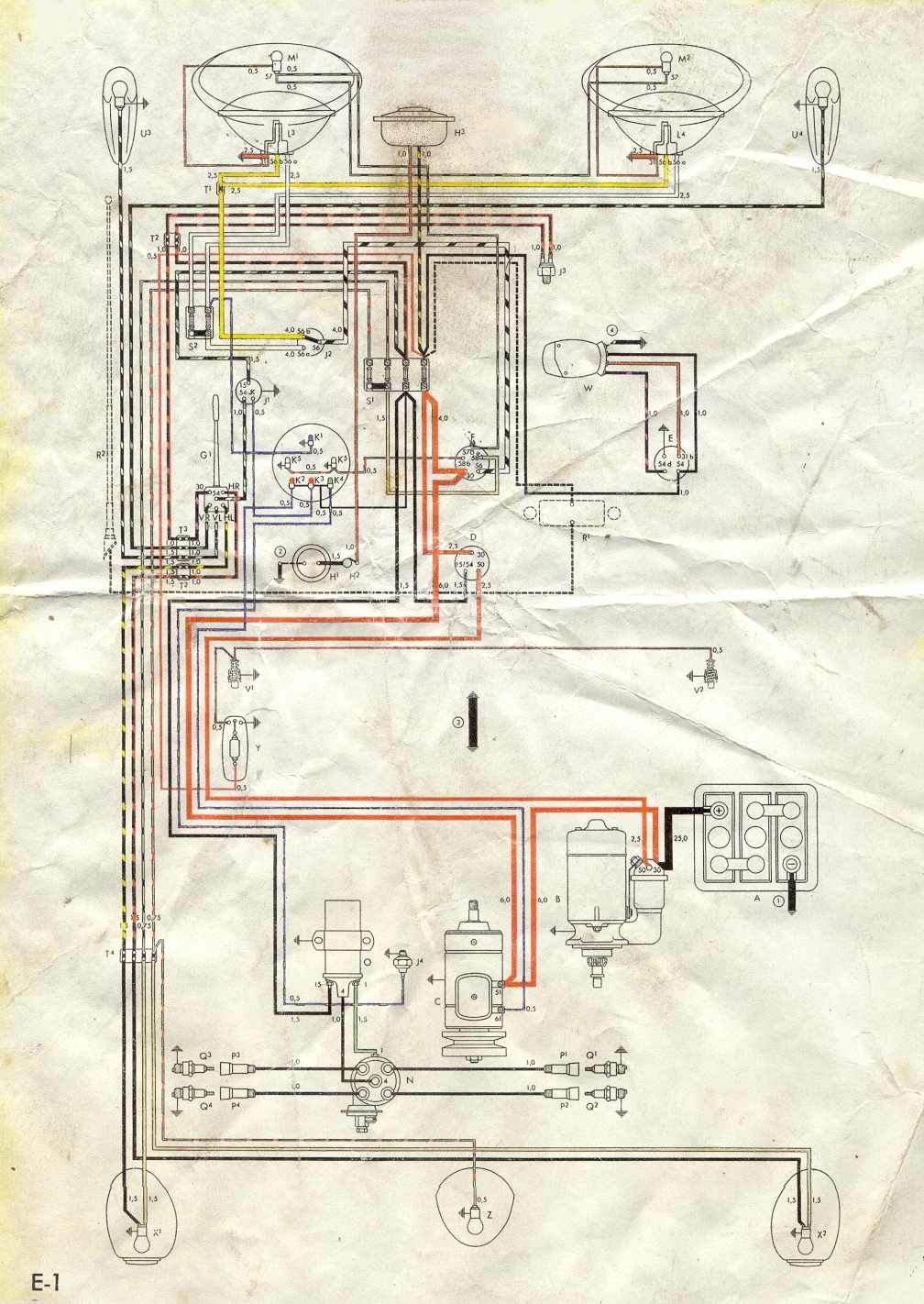 egine wireing diagram for 1959 voljswagen. Black Bedroom Furniture Sets. Home Design Ideas