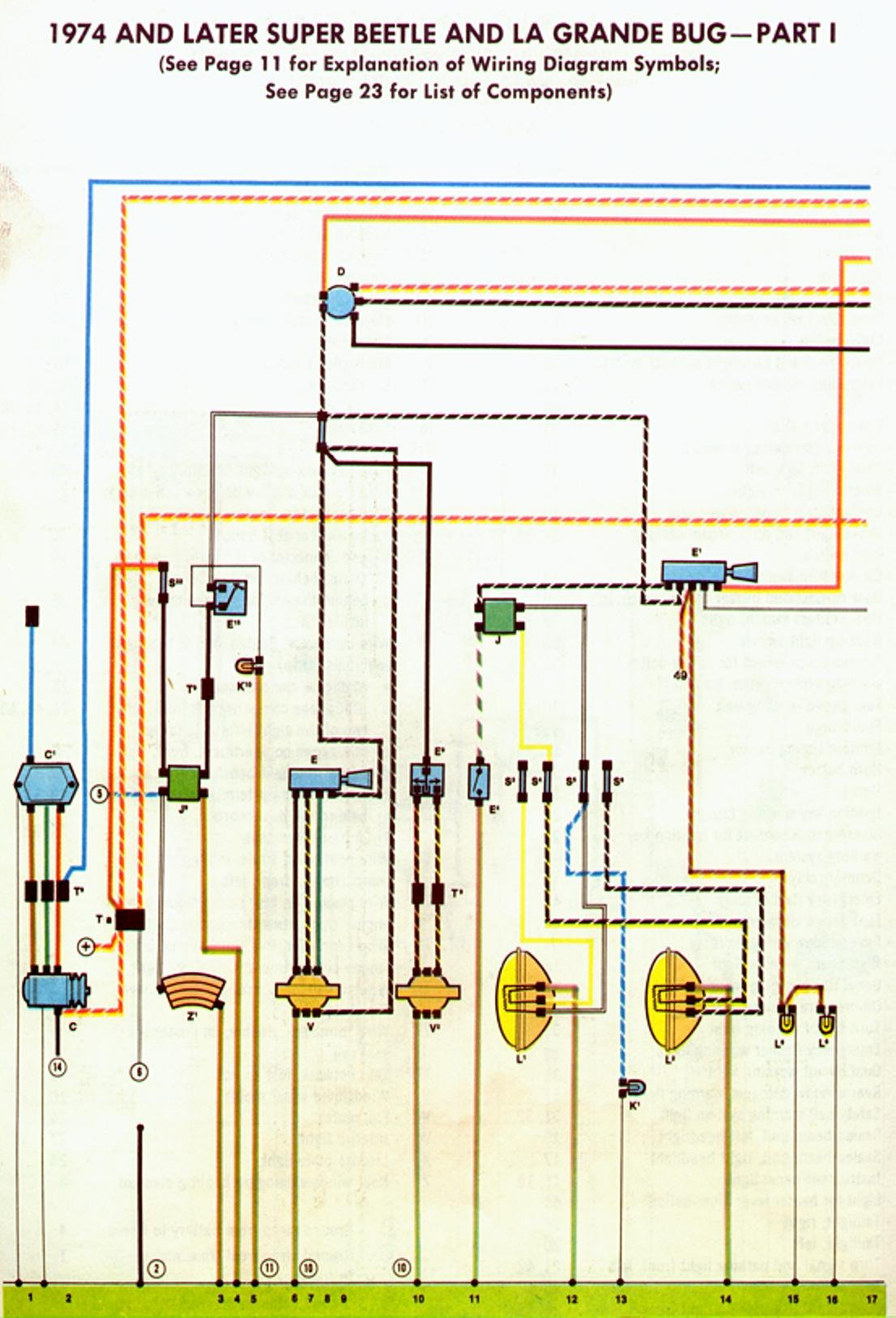 bug 74+75 a 1966 vw bug wiring diagram wiring diagram simonand 1973 vw super beetle wiring harness at creativeand.co