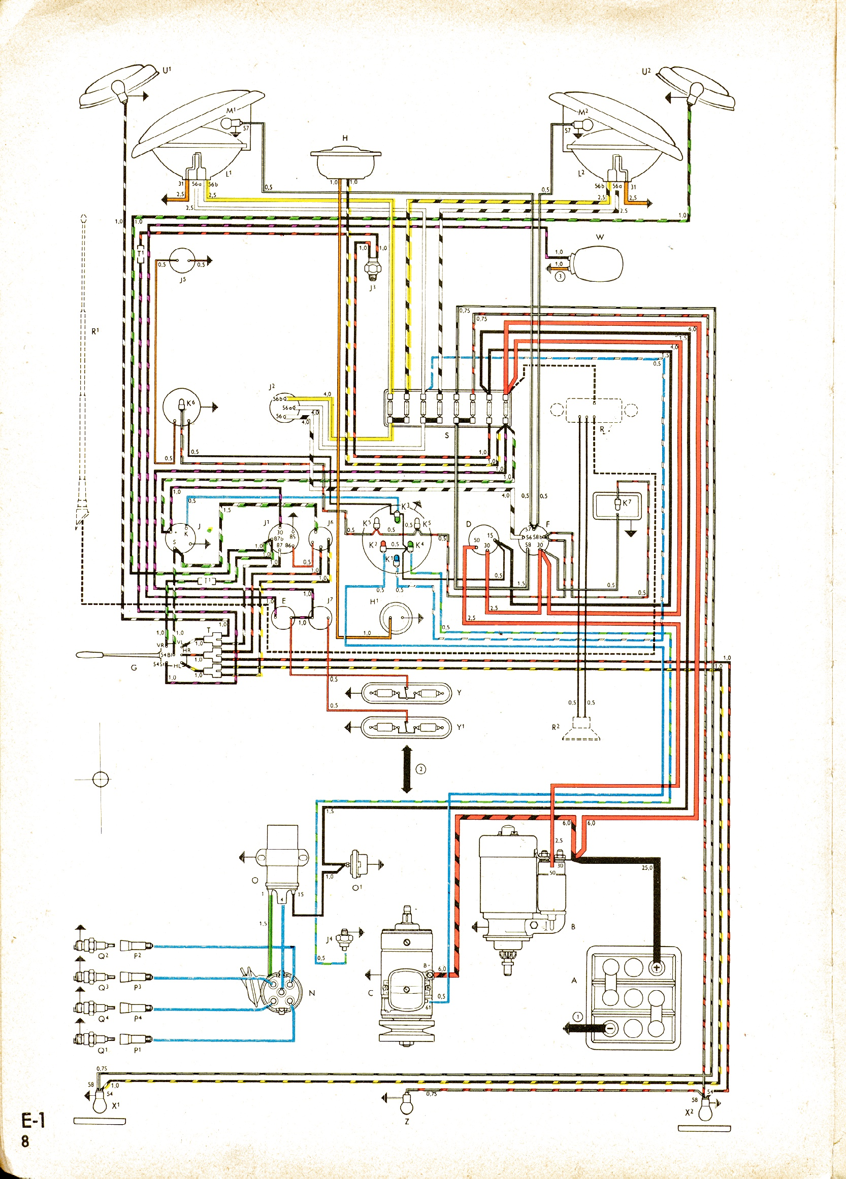 vintagebus com vw bus and other wiring diagrams rh vintagebus com 72 VW Bus  Engine Diagram VW Bus Wiring Harness