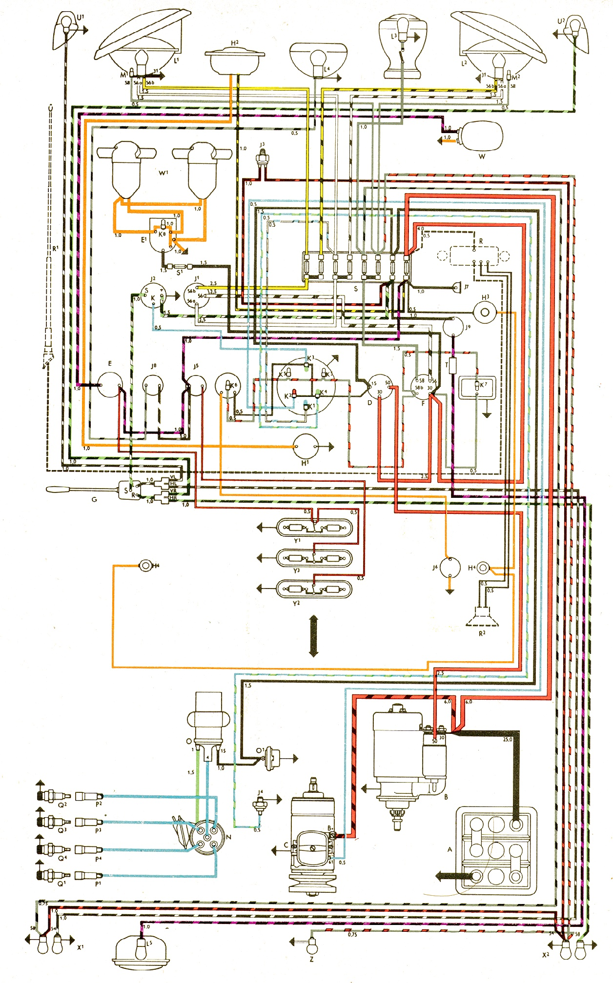 Vw Bus And Other Wiring Diagrams New Beetle Engine Diagram Repair Guide With Schematic Com