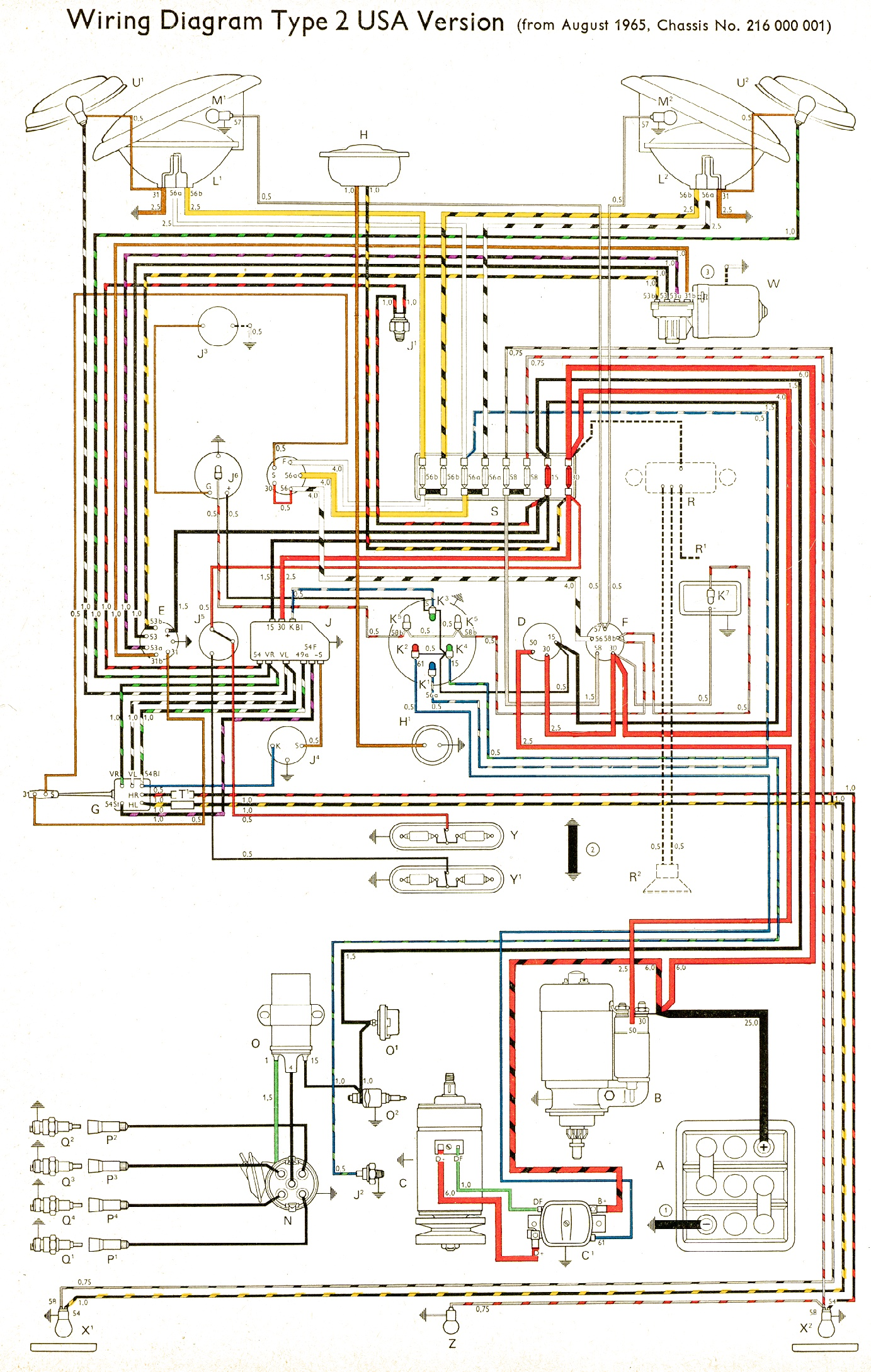 Wiring in addition Wiringt1 together with 1955 Ford Thunderbird Color Wiring Diagram likewise Wiringharnessbus furthermore Dodge Paint Code Location. on 1965 vw wiring diagram