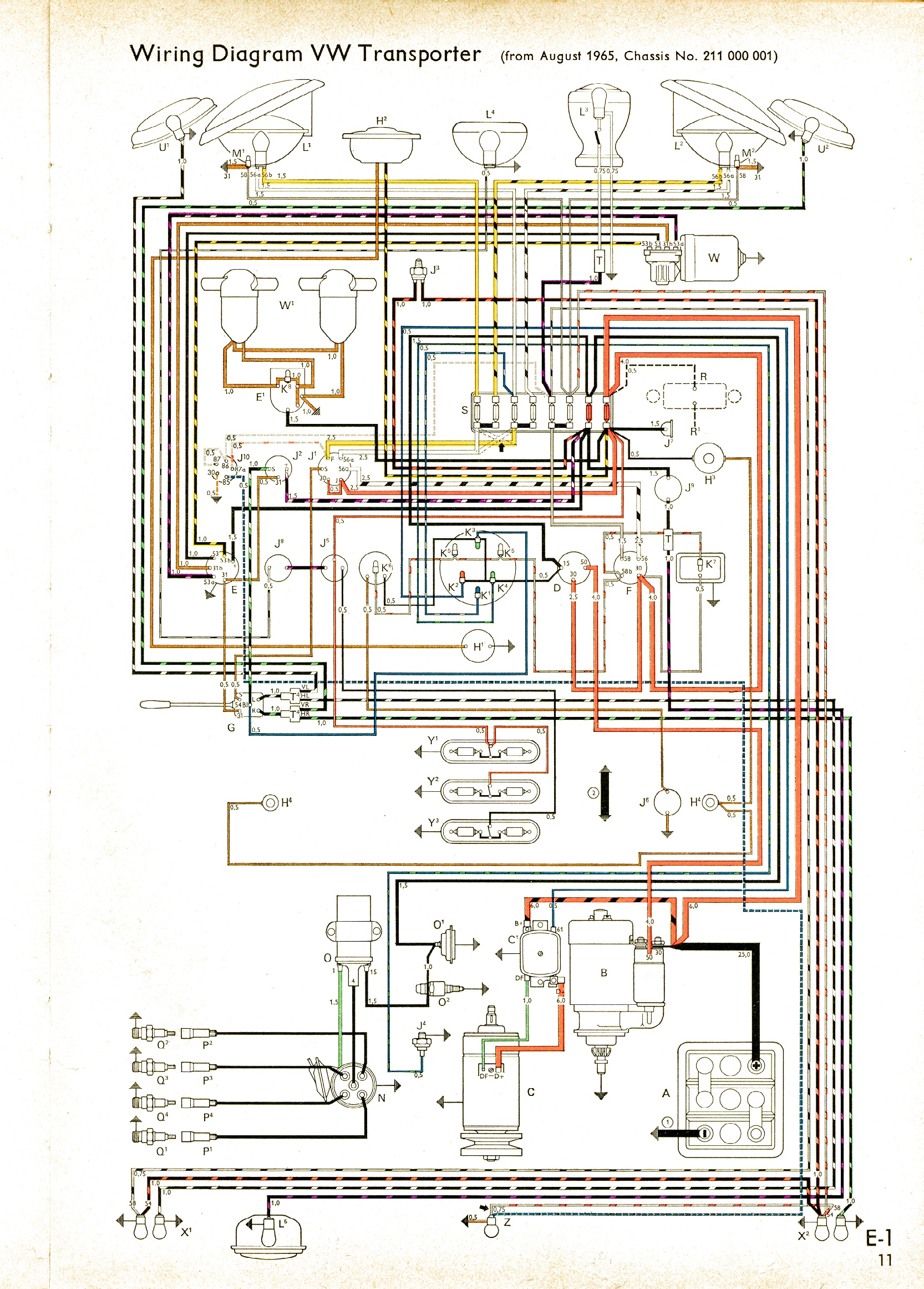bus 65 vintagebus com vw bus (and other) wiring diagrams vw polo wiring diagram download at aneh.co
