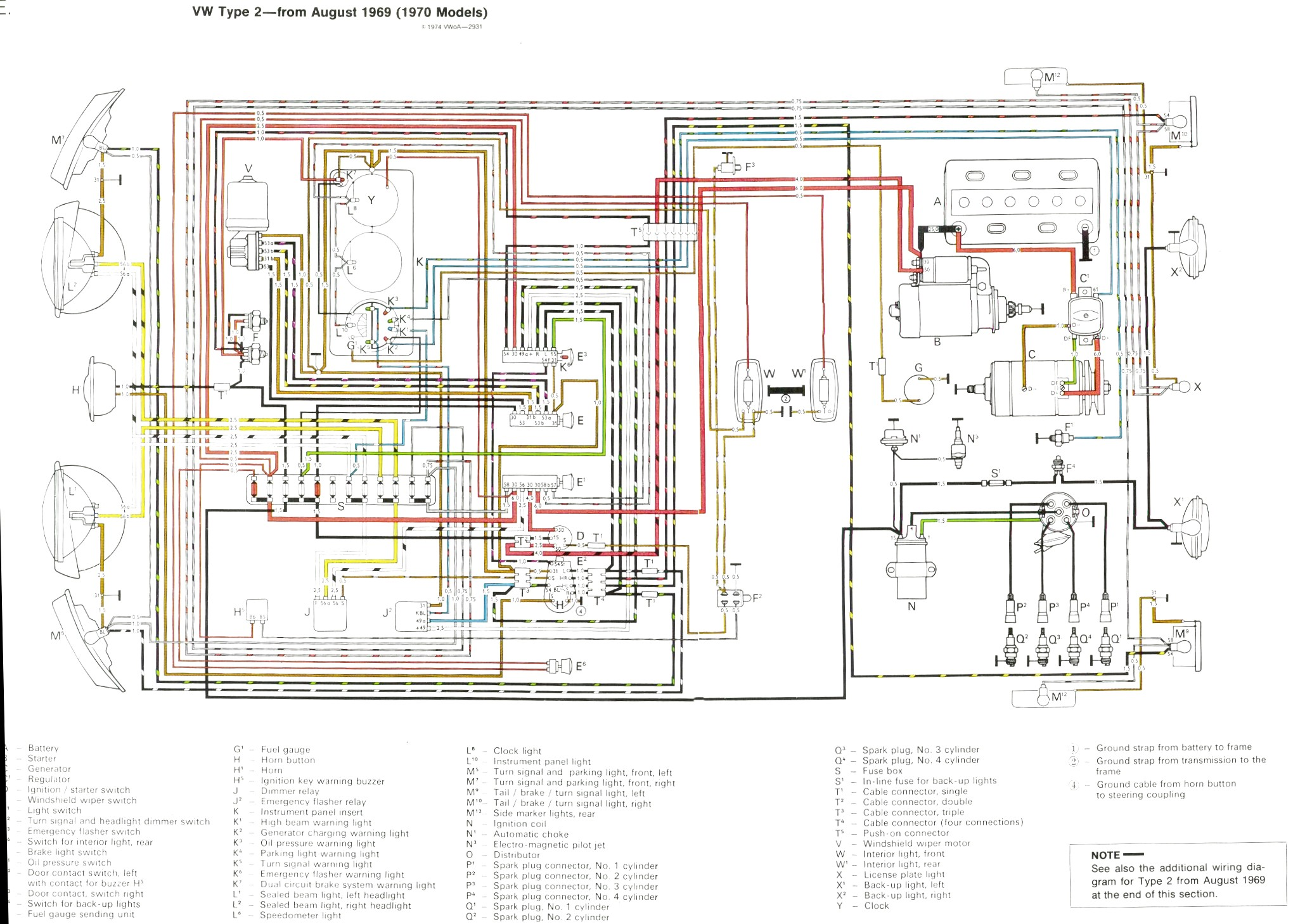 VintageBus.Com - VW Bus (and other) Wiring Diagrams on 1971 vw super beetle starter diagram, 70 vw beetle, 70 vw chassis, 70 vw engine, bay window diagram, 1968 vw beetle speedometer diagram, 1970 vw electrical diagram, 74 super beetle front end diagram, vw type 3 engine diagram, vw beetle fuse box diagram, 2nd gen eclipse alternator diagram,