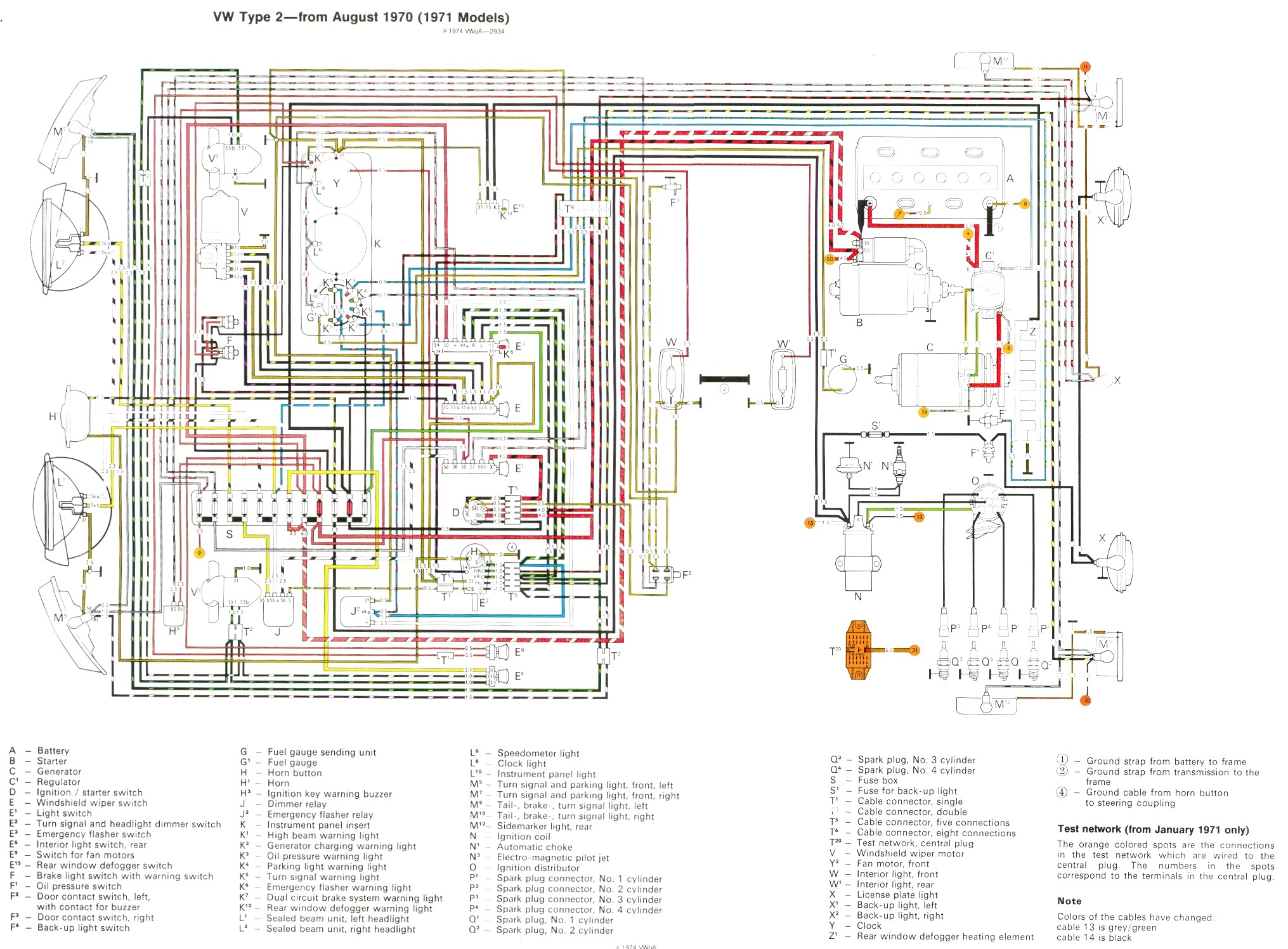 Vw Bus And Other Wiring Diagrams Sdometer Diagram Com