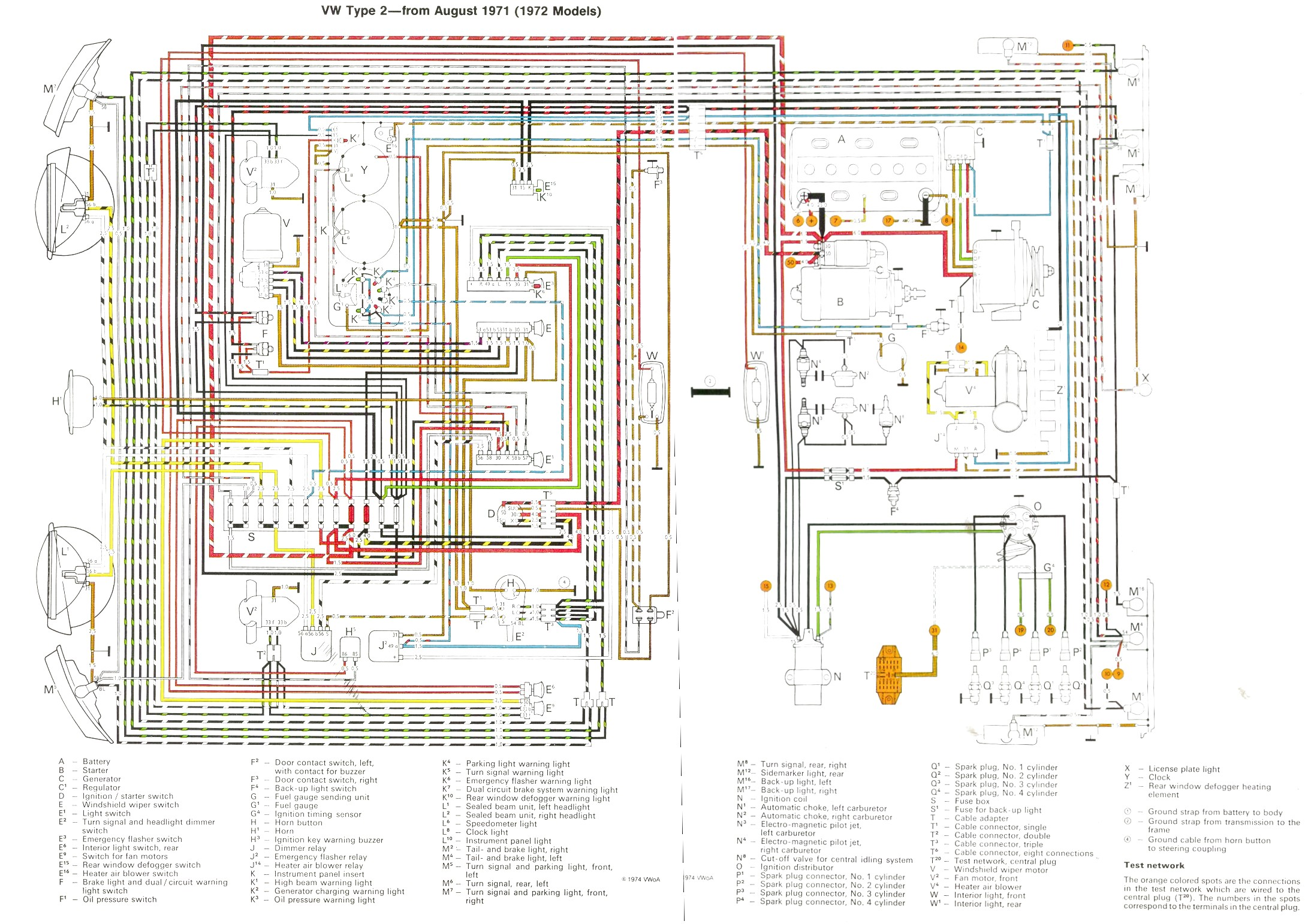 Vw Bus And Other Wiring Diagrams Single Schematic Diagram Com