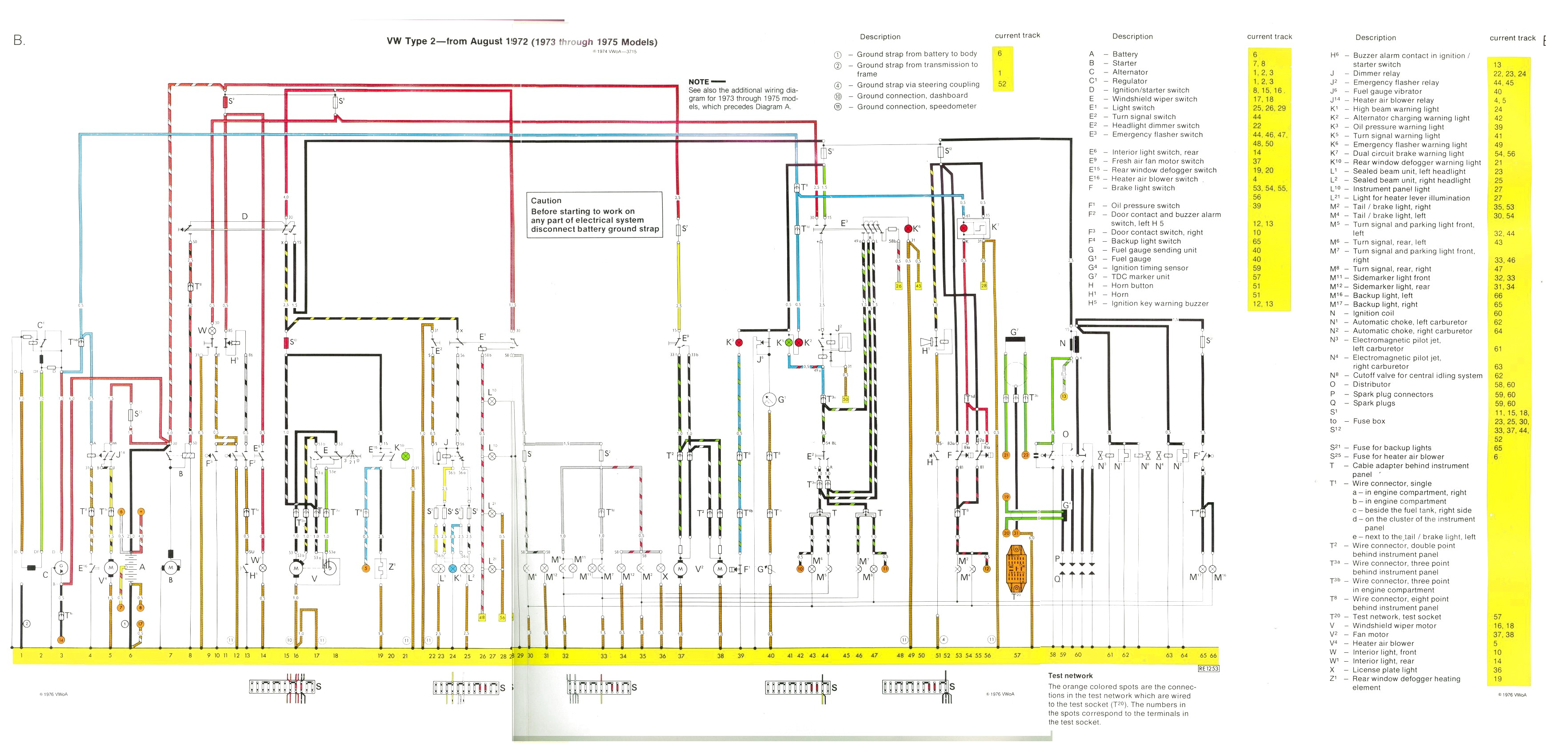 Vw Bus And Other Wiring Diagrams Diagram For 1964 Com