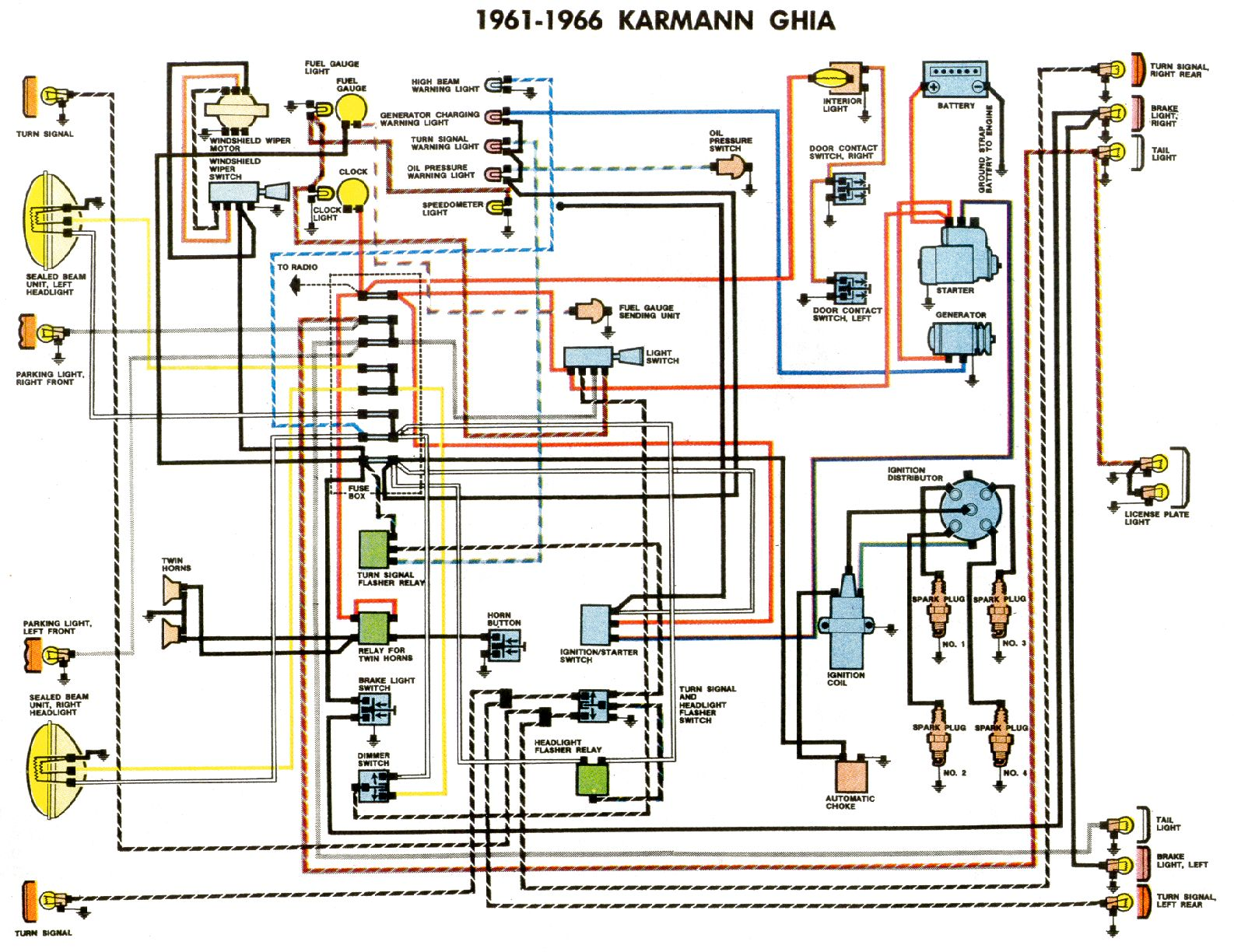 TheSambacom  Ghia View Topic  Ghia Unknown Light On Dash - 1966 vw beetle horn wiring diagram