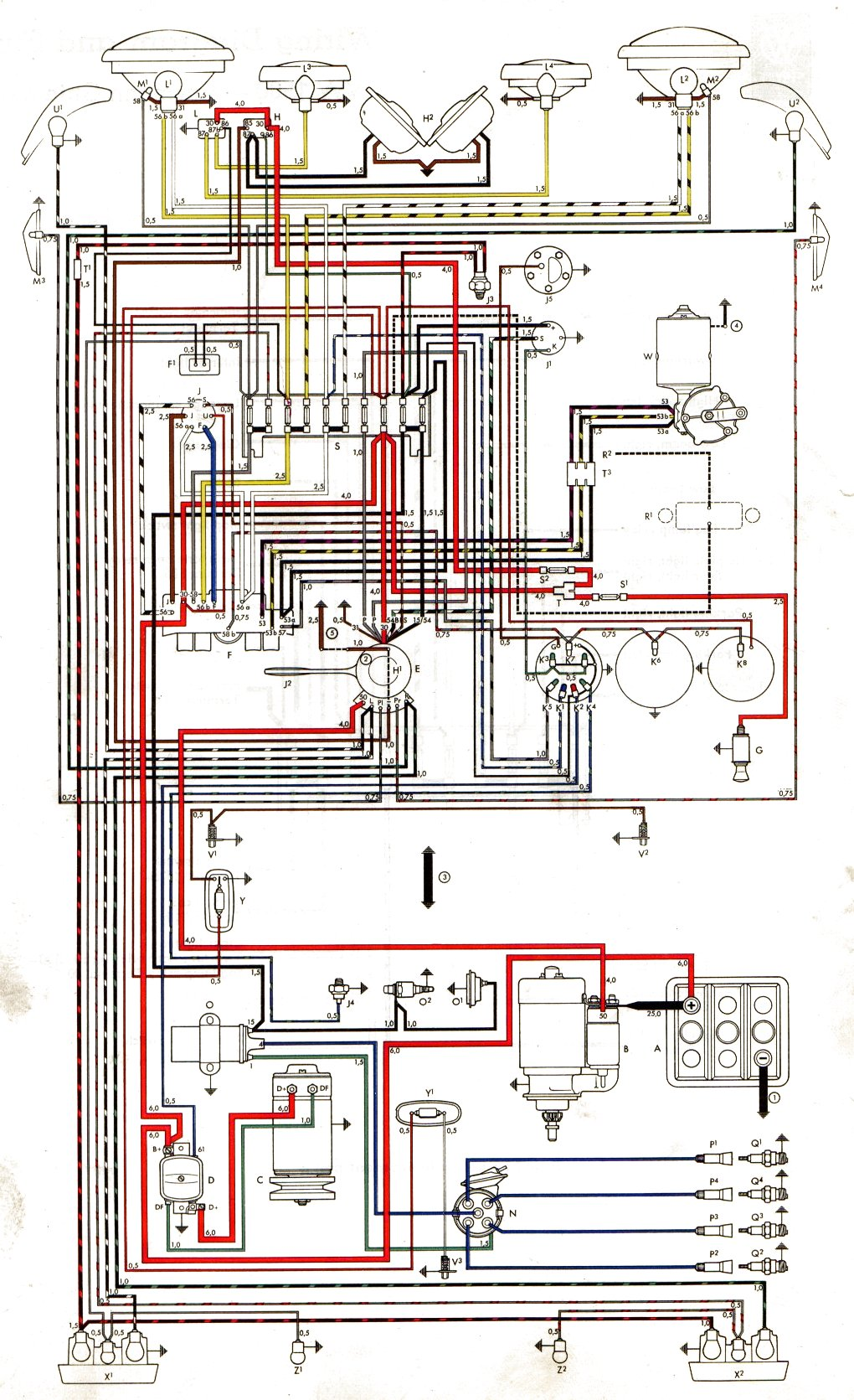 vwvortex com 62 karmannghia horn not workign vw wiring harness diagram